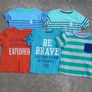 Lot of 5 Toddler Boys Shirts 2T 24m Carter's